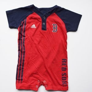 Adidas Red Sox baby romper
